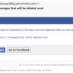 facebookからのメールかと思いきや巧妙なスパムメールの件